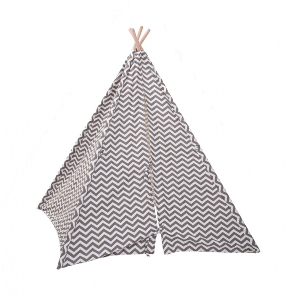 Childhome Tipi Tent Zigzag Grijs Babyoutlet