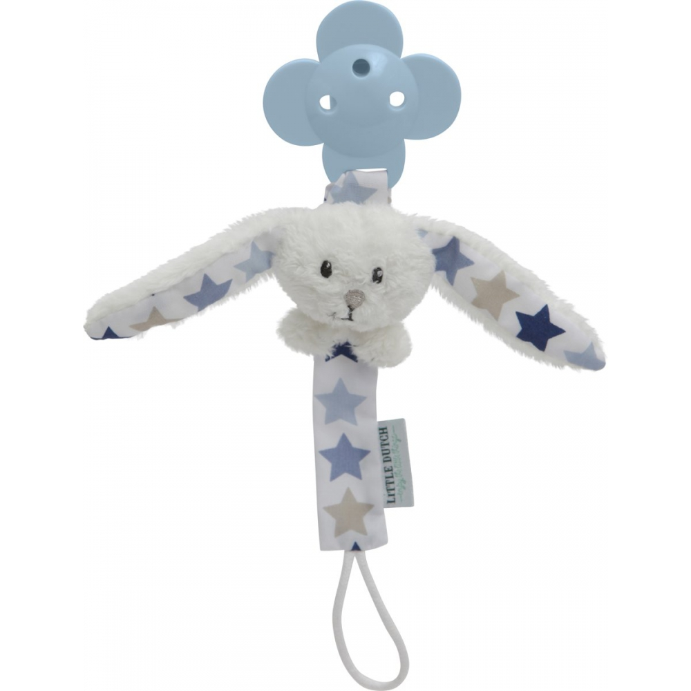 Little Dutch Konijn Mixed Stars Blauw Spenenketting
