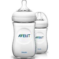 Philips Avent Natural SCF693/27 -2x Babyfles (260 ml) me
