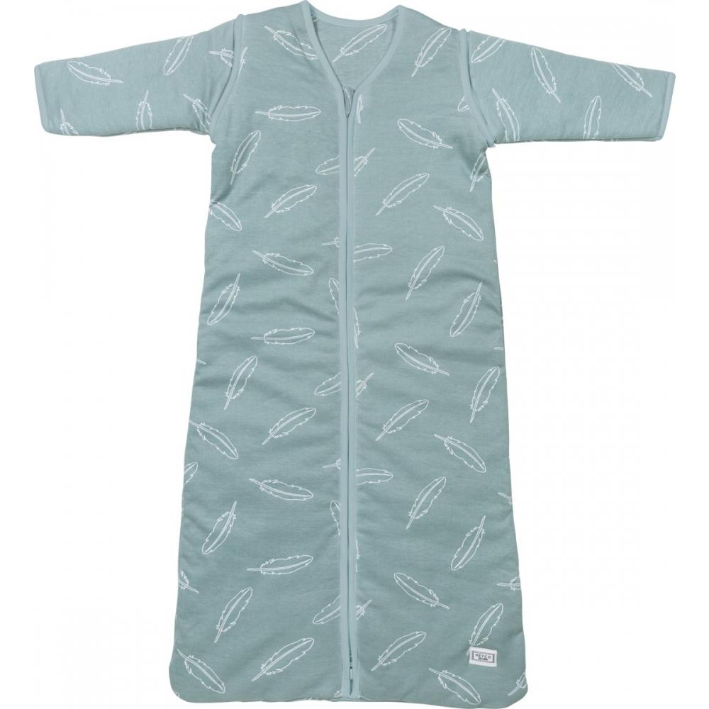 7f295d8366f Meyco Feathers slaapzak met afritsbare mouw - Jade 110cm - Babyoutlet