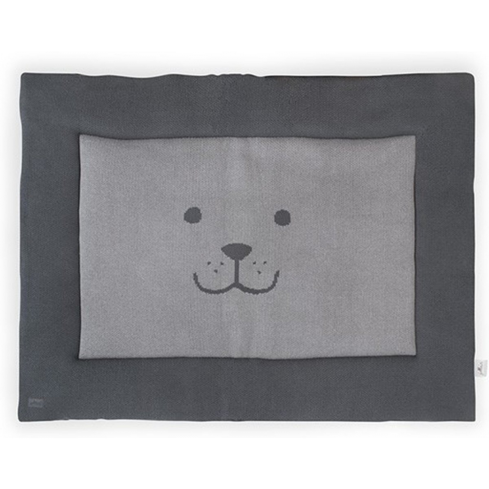Jollein Boxkleed 80x100cm Natural knit bear antraciet