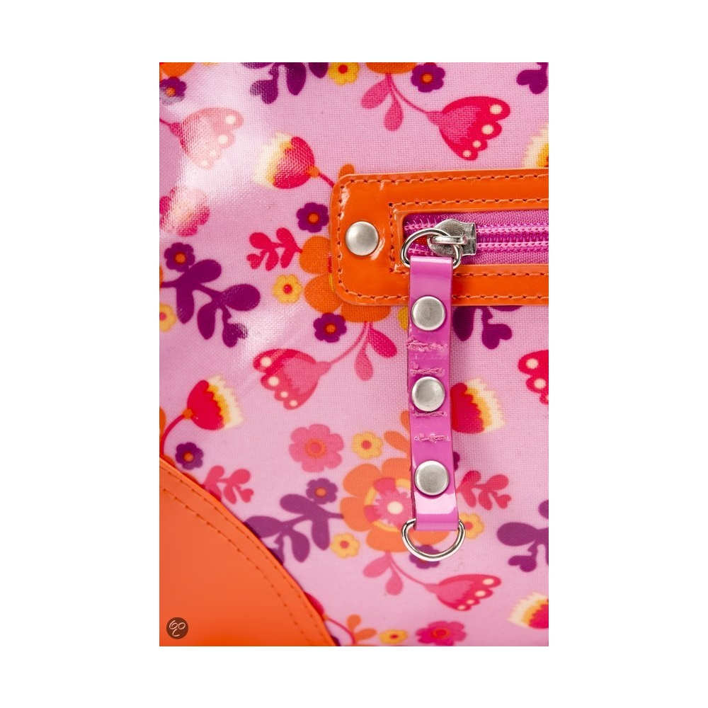 Little Company - Today Glossy Luiertas - Oranje/Roze