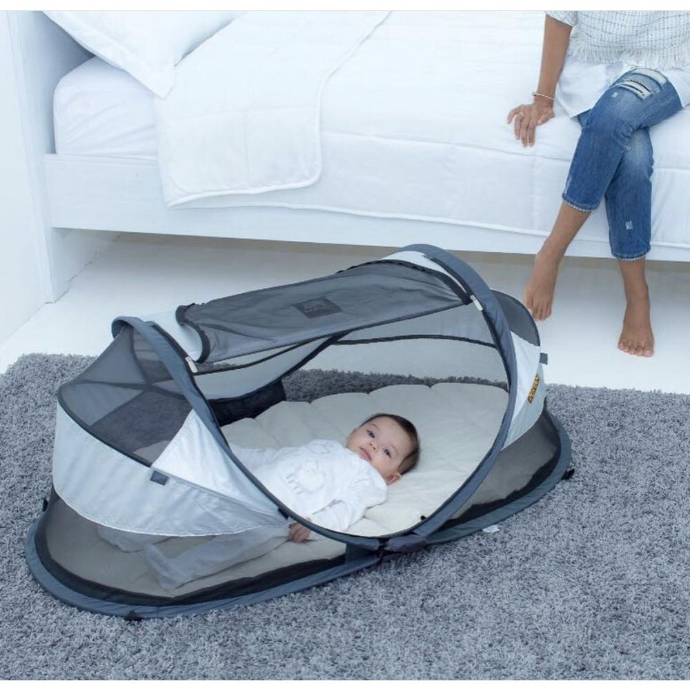 Campingbedje Voor De Pop.Deryan Outlet Baby Luxe Campingbedje Zilver Babyoutlet