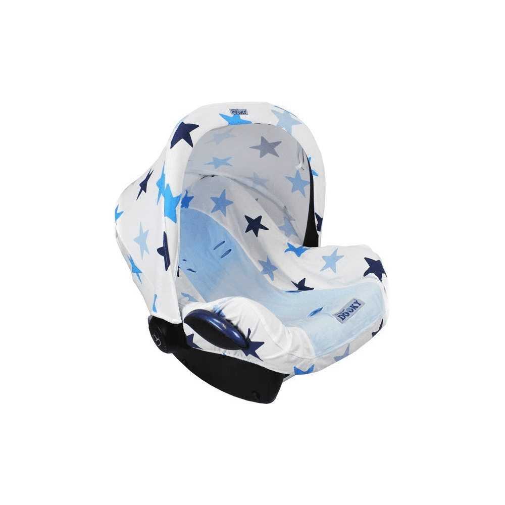Dooky Combi Pack Hoody & Seat Cover 0+ - Blue Stars