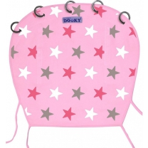 Dooky Universal Cover - Baby Pink / Pink Stars