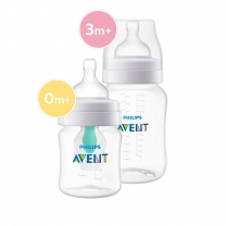 Philips Avent Combi Babyfles (125ml) + (260ml) AirFree V