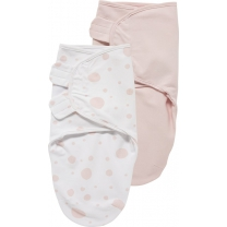 Meyco Swaddle Inbakerdoek 2-pack - 0-3 mnd - Dots/Uni ro