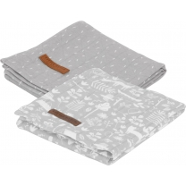 Little Dutch Swaddle doek 70x70 - adventure grey (set va