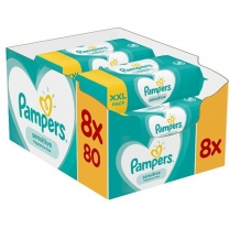Pampers Sensitive Billendoekjes 640 stuks