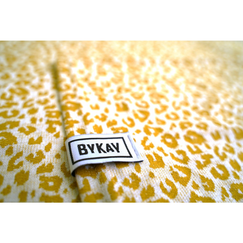 Bykay Draagdoek Stretchy Wrap Deluxe Yellow Leopard Maat
