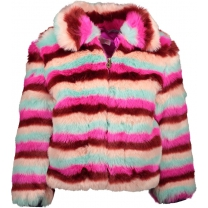 Kidz-Art Fake fur jas - Fancy - Maat 134/140