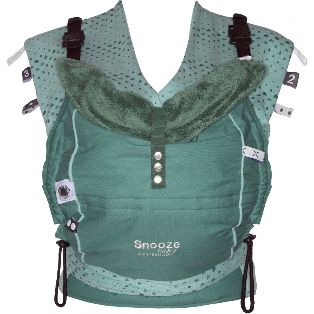 Snoozebaby Kiss & Carry draagzak -  Forest Green