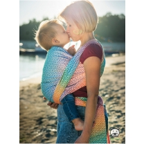 Luna Dream draagdoek Sling Little Hearts Rainbow maat 5