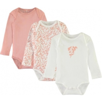 Name it Rompertjes 3pack Rose Tan - maat 74
