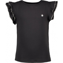 Like FLO ruffle t-shirt - antraciet - Maat 110