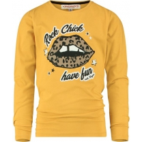Vingino Meisjes T- Shirt Yellow Lips- Maat 152