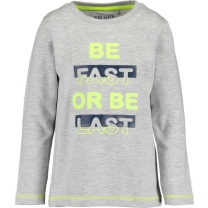 Blue Seven T-shirt - Be fast or be last - Maat 104