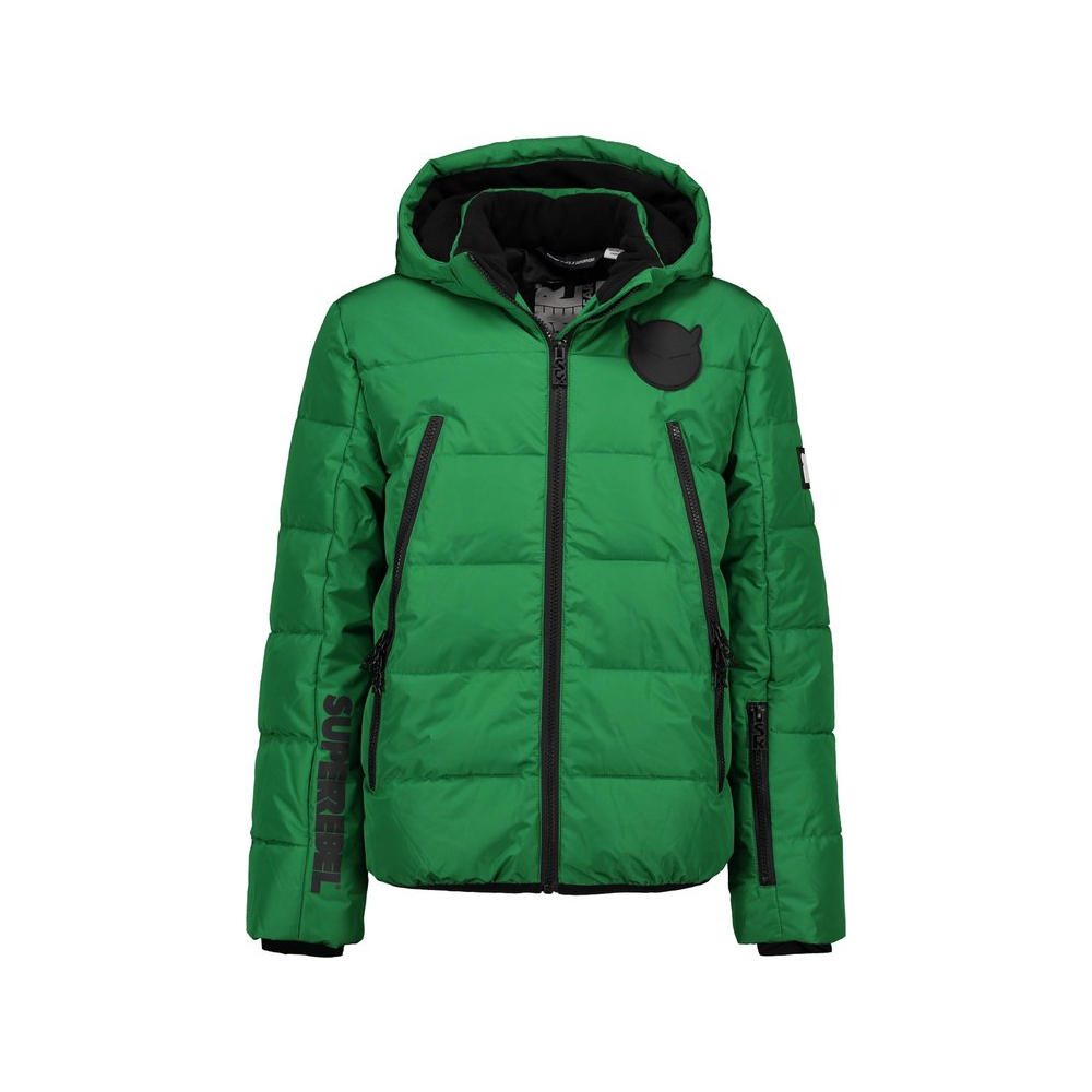 Super Rebel Wintersport jas - bottle green - Maat 128