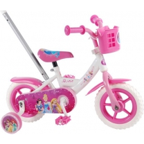 Disney Princess Kinderfiets 10 Inch Wit/ Roze