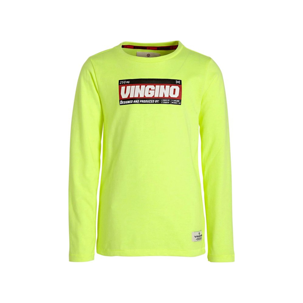 Vingino T- Shirt Neon Yellow- Maat 152
