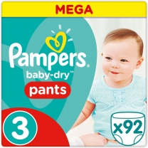 Pampers Baby-Dry Pants - Maat 3 (Midi) - Maandbox 92 stu