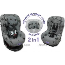 Dooky Seat Cover Groep 1 - Grey Star