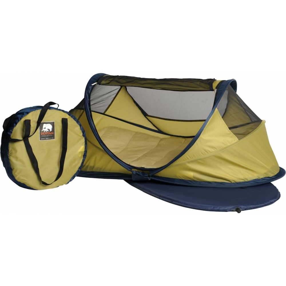 Campingbedje Lime Groen.Deryan Outlet Baby Luxe Campingbedje Lime Babyoutlet